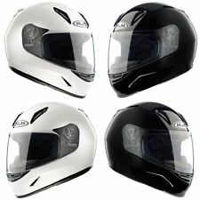 HJC CL-Y Motorcycle Ladies/Childrens Full Face Helmet Black White Crash Lid Kids