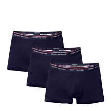 Tommy Hilfiger Mens Premium Essential Stretch Trunk 3 Pack - Peacoat Navy