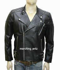 New Soft Genuine Leather Lambskin Motorcycle Biker Jacket Blazer Bomber Coat 552