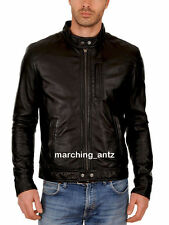 New Soft Genuine Leather Lambskin Motorcycle Biker Jacket Blazer Bomber Coat 510