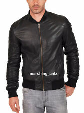 New Soft Genuine Leather Lambskin Motorcycle Biker Jacket Blazer Bomber Coat 513