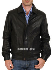 New Soft Genuine Leather Lambskin Motorcycle Biker Jacket Blazer Bomber Coat 515