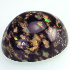 BLACK LEOPARD OPAL-MEXICO 17.07Ct RARE GEMSTONE-VERY GOOD PLAY OF COLORS