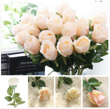 45cm Ivory/Champagne Artificial Rose Silk Flowers Floral Fake Valentines Wedding