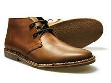 Mens Red Tape Gobi Tan Leather Lace Up Ankle Desert Boots Sizes UK 7 - 12