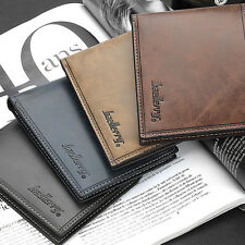 Men's Bifold Leather Wallet Credit Card Holder Billfold Clutch Pocket Purse