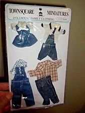 DENIM OUTFITS FOR THE FAMILY IN YOUR DOLL HOUSE - WEARABLE