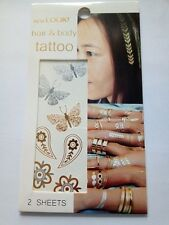 18 x Mixed Gold/Silver Butterfly HeartsTemporary Tattoos Birthday favour tattoo