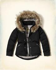 Abercrombie & Fitch – Hollister Womens Down Puffer Anorak Jacket XS Black NWT