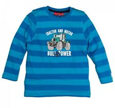 Salt and Pepper Kids Jungen Langarmshirt Traktor in malibu blue