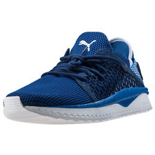 Puma Tsugi Netfit Unisex Blue Mesh Casual Trainers Lace-up Genuine Shoes