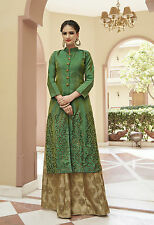Shanaya Creative Green Silk Straight Designer  Kurti / Kurta / Top