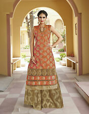Shanaya Glamorous Orange Silk Straight Designer Kurti / Kurta / Top