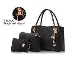 Womens Designer Handbag Set Leather Shoulder Messenger Tote Purse Ladies Bag