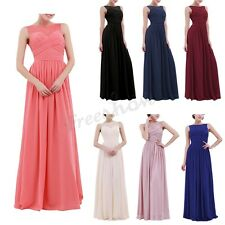 Women Long Chiffon lace Evening Formal Party Cocktail Dress Bridesmaid Prom Gown