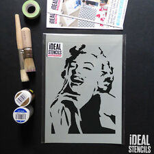 Marilyn Monroe Stencil home decor painting walls furniture fabrics art reusable