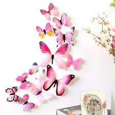 """12 pcs """"3D Butterfly"""" Wall Stickers - Home Decorations For Living Room/Bedroom"""