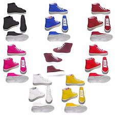 Mens Womens Unisex Canvas Hi High Top Lace Up Sneakers Trainers Shoes UK 3 To