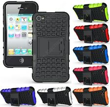 Heartly Flip Kick Stand Spider Armor Bumper Back Case Cover Apple iPhone 4 4S 4G