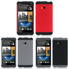 Heartly Double Dip Shell Bumper Back Case Cover HTC One Dual Sim 802D 802T 802W