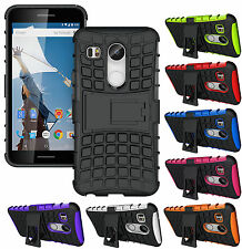 Heartly Flip Kick Stand Spider Hard Armor Bumper Back Case Cover - LG Nexus 5X