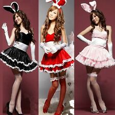 Sexy Christmas Bunny Girl Lingerie Role Play Rabbit Girl Costume Babydoll Dress