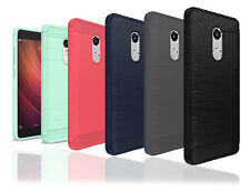 Heartly Carbon Fiber Soft Tpu Hybrid Back Case Cover For Xiaomi Mi Redmi Note 4