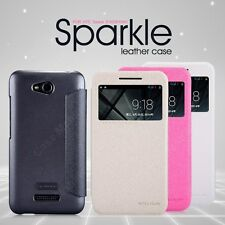 Nillkin Sparkle Leather Flip Stand Hard Back Case Cover For HTC Desire 616 D616W