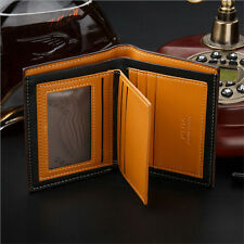 Mens Leather Bifold ID Card Holder Wallet Billfold Handbag Slim Clutch New Gifts