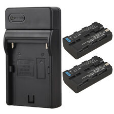 2 x 7.2V 2600mah Rechargeable Battery + USB Charger For Sony NP-F550 NP-F570