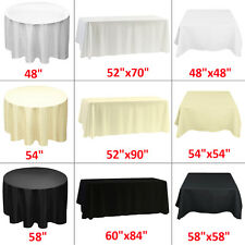 1 5 10 Tablecloth Polyester Table Cloth Cover Banquet Wedding Party White Black