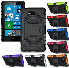 Heartly Flip Kick Stand Spider Armor Bumper Hard Back Case Cover Nokia Lumia 820