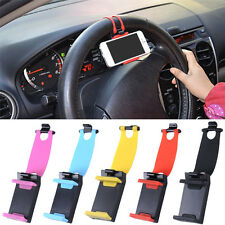 Universal Car Steering Wheel Mobile Stand Holder Smart Car Bike Clip Phone Mount