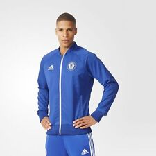 AC6409 Men Adidas CHELSEA FC Anthem  Jacket GENUINE Full Zip Hooded Top Size S-M