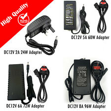 DC 12V POWER SUPPLIES ADAPTOR TRANSFORMER DRIVER SUPPLY LED STRIP LIGHTS CCTV UK
