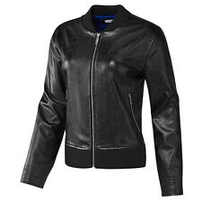 Adidas EF FAUX LEATHER JACKET WOMENS Black CASUAL BIKER