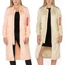 ALPHA INDUSTRIES giacca da donna MA-1 COAT LW pm lungo WMN BOMBER PARKA CAPPOTTO