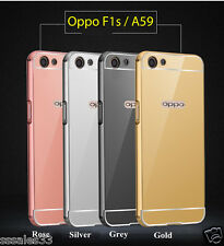 *Luxurious Aluminium Metal Bumper MIRROR Back Cover Case For For Oppo F1s / A59*