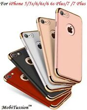 MobiTussion iPhone 5 6 7 & Plus 3 Piece Chrome Hybrid Protective Back Case Cover