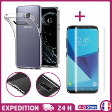 LOT COQUE HOUSSE DE PROTECTION TPU + FILM PROTECTEUR TPU SAMSUNG GALAXY S8/S8+