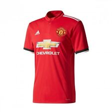 Maillot adidas Manchester United FC Domicile 2017-2018 Real red-White-Black