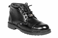 JKPORT Men's Black Safety Shoes (JKPA012BLK)