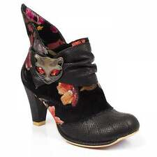 Irregular Choice Miaow 3432-02AM Womens Ankle Boots - Black Floral