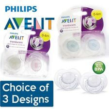 Philips Avent Translucent Soother Twin Pack - Age 0-6m CHOICE OF BOY/GIRL (A36)