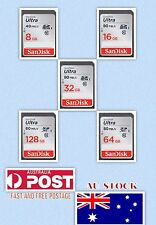 SD Card SanDisk Ultra SDHC/SDXC Class10 - 8 16 32 64 128GB  & msd reader