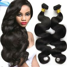 7A Brazilian Peruvian Real Virgin Remy Human Hair Extensions Wefts Weave 100G