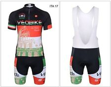 ITALY 2017 CYCLING SET JERSEY BIB PANTS ALL SIZE XXS TO 5XL BICI BIKE CICLISMO