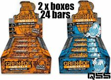 GRENADE CARB KILLA 24x60g (2 x BOXES) BARS HIGH PROTEIN, LOW CARBS & LOW SUGAR