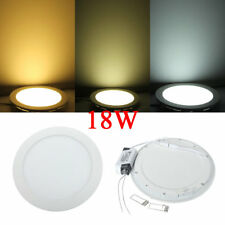 18W Round Ceiling Ultrathin Panel LED Lamp Downlight Light 85-265V
