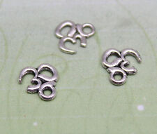 """50/100pcs 10.5x10mm Lovely delicate small """"3D"""" charm pendant antique silver"""